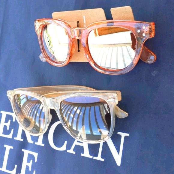 AEO Tan and Orange Sunglasses 2 Pair